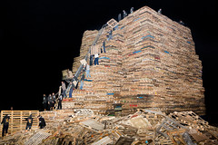 (Peter de Krom) Tags: new records tower fire book scheveningen year guinness pallets happynewyear vreugdevuur duindorp