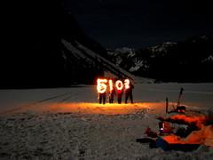 Happy 5102! (Dru!) Tags: camping winter mountain lake canada cold frozen bc britishcolumbia midnight cascades newyearseve newyears coquihalla notquite northcascades fallslake 2015 5102 16c coquihallalakes nyfallslake coquihallalake