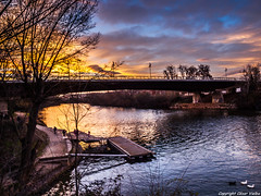 Atardecer en el ro Pisuerga (cvielba) Tags: parque rio atardecer valladolid