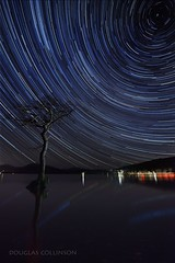 Something a little Different! (Douglas Collinson) Tags: longexposure winter sky tree water night dark stars bay scotland nationalpark oak nikon north trails scottish pole andromeda galaxy le astronomy loch lomond f4 refections refection d800 milkyway luss 1635 balmaha millarochy traossachs