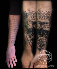 Skull Realistic Black and Grey CoverUp Tattoo (13.22 Tattoo Studio) Tags: old uk portrait baby moon west flower colour london eye art clock geometric church girl rose closeup tattoo illustration angel skeleton religious foot japanese skull photo artist ship child hummingbird hand veil heart arm mechanical lotus geometry buddha watch fine feather bigben bio superman line xmen batman pharaoh rib script custom handprint sleeve logos compass gentleman pac dreamcatcher realism chicano coverup realistic triforce sourgrapes eygptian blackandgrey s0urgrapes