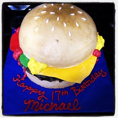Burger cake by Lisa, Placer County, CA, www.birthdaycakes4free.com