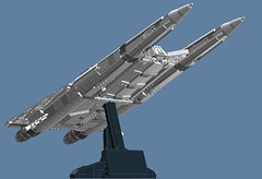 Earth Directorate Fighter - UCS (Cagerrin) Tags: fighter lego space system buckrogers spaceship concept bsg ralphmcquarrie starfighter