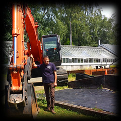 "David with Excavator • <a style=""font-size:0.8em;"" href=""http://www.flickr.com/photos/130463794@N02/16345039652/"" target=""_blank"">View on Flickr</a>"
