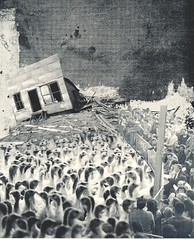 Exit Poll (The Grand Collage) Tags: chickens landscape election crowd voting citizens dystopia