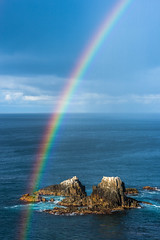 Laguna Beach - Seal Rock Rainbow #1 (www.karltonhuberphotography.com) Tags: light sky seascape reflection beach nature beautiful weather outdoors morninglight rainbow rainyday vivid pacificocean refraction southerncalifornia magical invigorating naturalworld inspiring lagunabeach californiacoastline goodluck sealrock oceanfront naturalphenomenon 2016 oceanbreeze dispersion stimulating verticalimage offshorerocks karltonhuber