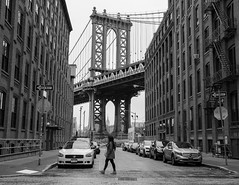 Manhattan Bridge (Norman H.) Tags: nyc newyorkcity blackandwhite bw usa newyork brooklyn america adventure manhattanbridge williamsburg bandw bnw