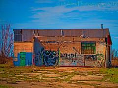 Honey I met the Neighbours (HSS) (13skies) Tags: building art abandoned graffiti colours post slide urbanexploring urbex postprocessing hss slidersunday happyslidersunday