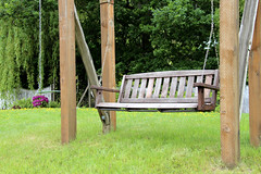 Swinging Bench Monday (ruthlesscrab) Tags: garden bench swing hbm benchmonday