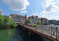 Strasbourg 08 (mpetr1960) Tags: city bridge sky people france building water architecture clouds river nikon europe cityscape outdoor eu strasbourg cityview d800 nikond800