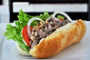 Beef roll (Roving I) Tags: tomato salad meat vietnam lettuce dining onionrings cafes danang breadrolls beefroll happyheart