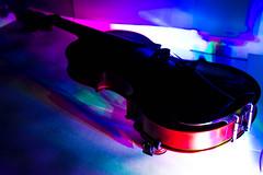 Violin RGB (Edward Mozz) Tags: blue red white green colors shadows magenta experiment violin leds rgb