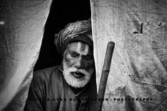 """  S L E E P  "" (Ayan Kumar Ghosh Photography) Tags: street old city india nikon asia outdoor oldman age passenger hinduism kolkata calcutta pilgrim ganga sadhu nikonflickrawardgold"