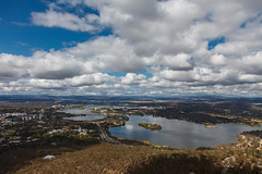 Canberra (DrSchabbs) Tags: blue light sky reflection beautiful clouds daylight day wideangle canberra fullframe cbr 24105 telstratower canoneos5dmarkii 5dii