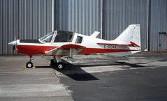 G-BCAA. Scottish Aviation Bulldog 120/125 (Ayronautica) Tags: june 1974 aviation trainer prestwick pik egpk gbcaa scottishaviationbulldog120125 jordanianacademy