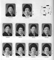Kamogawa Odori 1961 018 (cdowney086) Tags: vintage geiko geisha  1960s pontocho miyoko onoe   kamogawaodori  kofumi yukihide chiemaru raifuki unoshizu mamekiku raishige unoyoshi           rachizu