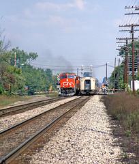 International in Durand: 5 (craigsanders429) Tags: amtrak railroadtracks canadiannational passengertrains passengercars passingtrains grandtrunkwestern durandmichigan amtraktrains amtrakinmichigan cnindurandmichigan amtraksinternational amtrakindurandmichigan