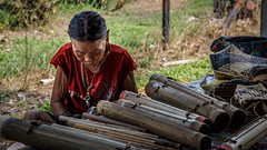 Old Iban woman (Philipp Schmidbauer) Tags: travel canon asia southeastasia backpacking sarawak malaysia borneo cave southeast dslr iban 6d headhunter mulu