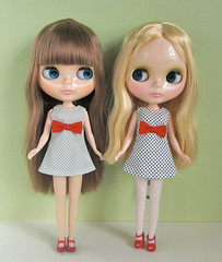 dots and ribbon dresses