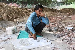 A Portrait of The Delhi Walla as a Stone Carver Whose Father Was Also a Stone Carver Whose Father Was Also a Stone Carver Whose Father was Also a Stone. (Mayank Austen Soofi) Tags: portrait monument stone was delhi father conservation carver khan whose aga walla the a also stone
