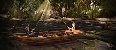 Good Catch -  NEW ~TDC~ Old Rowboat - Multitexture by Dreamer Creations (Vita Camino) Tags: new old boat rustic sl secondlife anthony vita giardini gartner baot dreamers creations slur 2016 thedreamercreations