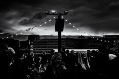 Dark Clouds over England (Claus Tom) Tags: street blackandwhite bw port copenhagen denmark evening harbor marine candid soccer streetphotography transportation cph em uefa kbenhavn islandsbrygge em2016 uefaeuro2016