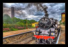 Steam & Smoke (Kevin From Manchester) Tags: england train northwest transport trains lancashire railwaystation hdr ramsbottom canon1855mm eastlancashirerailway railwaylines plantform kevinwalker canon1100d