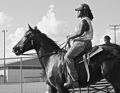 East Austin cowboy (wheeler_camille) Tags: park street white black austin photography texas district east recreation facility rider horseback givens