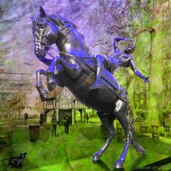Musophobic horse (Lemon~art) Tags: horse london texture statue mouse manipulation equestrian musophobic