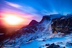 The Quiraing (NeilAlexanderD) Tags: longexposure cloud mountain snow weather sunrise dawn scotland rocks europe isleofskye innerhebrides cloudy unitedkingdom snowy noone nobody nopeople highland snowfall mountainpass mountainrange mountainpeak eileanache anteileansgitheanach