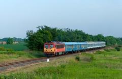 M41 2301 - Fonyd (Kornl Tili) Tags: railroad train landscape rail railway mv vonat fonyd vast mozdony csrg szemlyvonat hrg m412301 418301