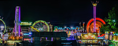 over the midway panaroma ll (pbo31) Tags: california summer panorama motion black color june night dark nikon ride spin swings over large vertigo fair panoramic spinning butler bayarea ferriswheel rides eastbay midway stitched pleasanton amusements grounds alamedacounty footloose 2016 lightstream boury pbo31 d810