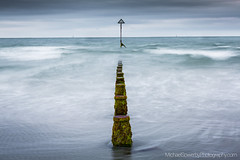 Groynes, West Wittering, West Sussex (Mike_Sowerby) Tags: michaelsowerbyphotographycom west wittering beach sea water sky clouds soft sand groynes posts waves sussex
