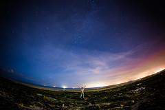 Space world (Zeeyolq Photography) Tags: adventure alone beach canon6d fisheye12mm man milkyway nature night samyangfisheye12mm sky space stars world lionsurmer normandie france