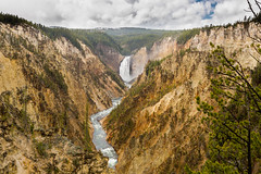 Grand Canyon of the Yellowstone (E.K.111) Tags: canon5dmarkiii lightroom6 nature nationalpark wilderness clouds hdr river waterfall yellowstone