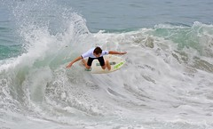 Cameron Gruwell competing in the Men's Pro Division (cjbphotos1) Tags: thevic2016 aliso beach skimboarding finless waves spray action sports ocean lagunabeach california thevic2016skimboardingchampionship pro mens womens world