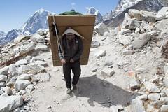 Stand aside! (D A Scott) Tags: everest base camp trek trekking hiking hike mountains himalayas asia nepal