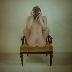 Tragically Flawed (soultraveler106) Tags: surreal surrealphotography girl chair woman fineart fineartphotography conceptualphotography conceptualimage back