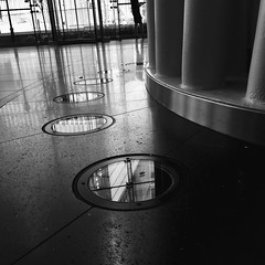Around and around we go! (jamarcallender@rocketmail.com) Tags: nyc manhatten iphoneography bold strong repetition photooftheday photography patterns blackandwhitephotography blackandwhite circles
