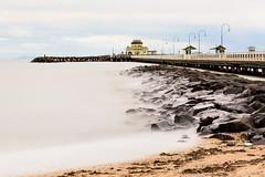 St Kilda Pier (George Lyra) Tags: australia seeaustralia victoria melbourne stkilda pier longexposure ocean travel travelphotography landmark attraction