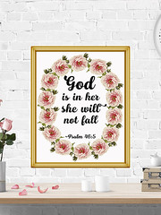 God Is In Her She Will Not Fall Psalm 46:5 (PrintArtPosters) Tags: prints home house decor ideas walldecor art wallart pictures artwork wall posters jpg pdf print digitalprints homedecor printableart typographyart typography artprints printable gift room popular design dorm apartment etsy printartposters psalm bible floral christian scripture god