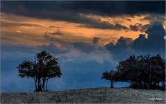 Ultimi colori del giorno (Luigi Alesi) Tags: 201609settembre marche sanvicino italia italy macerata sanm severino riserva naturale del monte san vicino e canfaito tramonto sunset nuvole clouds cloudscape paesaggio landscape scenery natura nature nikon d750 raw
