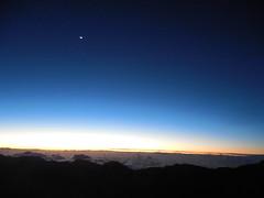 Twilight on Haleakala (jimmywayne) Tags: sunrise hawaii maui mauicounty haleakala nationalpark crater volcano twilight moon
