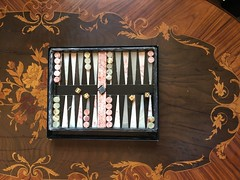 The marble set I bought off eBay last week has just arrived, it's really nice and is getting left on the coffee table at home. Mandarin Oriental Hotel Hong Kong marble backgammon set. (allanpar) Tags: backgammoncounters backgammonstones boardgames marblebackgammon marble backgammon