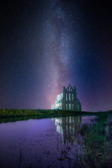 Whitby Abbey under the Stars [Explored 15/10/16] (Tony Emery Fotos) Tags: whitby abbey north east dracula goth ancient cathedral stars astro astrophotography night milkyway galaxy