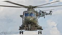 Royal Navy Agusta Westland Merlin HC3 ZJ118-3 (benji1867) Tags: royal navy agusta westland merlin hc3 zj118 junglie leonardo wildcat vl yeovilton airday airshow rnas naval air show hms seahawk fly flight helo helicopter chopper marine avgeek avporn aviation lynx