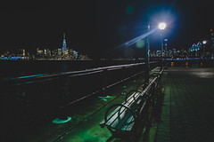 green lantern (f_stops) Tags: city nyc nightphotography architecture vanishingpoint nikon cityscapes illumination cityphotography nikonphotographers jkulik