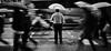 When people run in circles (. Jianwei .) Tags: street urban rain vancouver umbrella mood sony slowshutter 2014 nex madworld kemily
