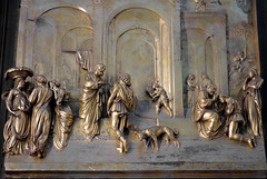 Ghiberti, Gates of Paradise, Esau and Jacob panel, lower secton