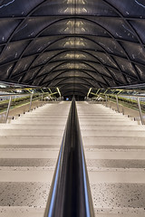 The lights are off but somebody is there (Pixel-Pusher) Tags: stairs lights escalator trains center off transportation anaheim busses artic regional distraction intermodal